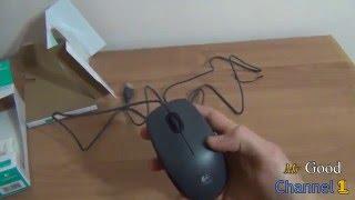 Мышь Logitech M100 Распаковка Обзор/ Unboxing Logitech Mouse M100