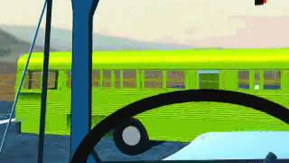 School Bus and Dump Truck Collision - Truck Driver's View