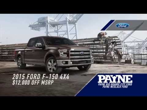 get $12,000 off msrp on a new 2015 ford f150 4x4 crew | payne