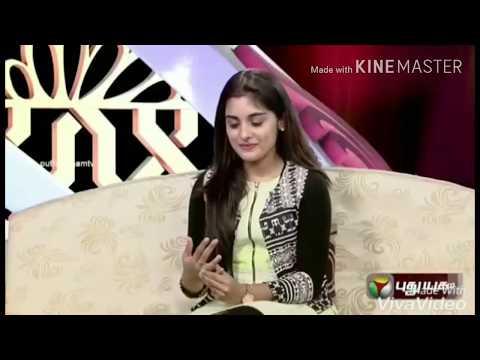 Nivetha Thomas singing a Tamil song from papanasam