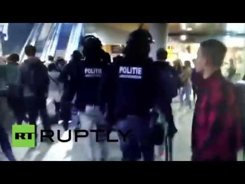 Netherlands: Police arrest suspect on evacuated Thalys train in Rotterdam