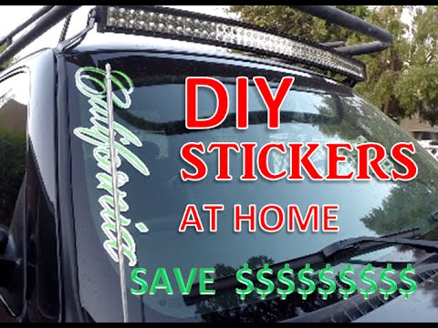 How to make custom stickers at home