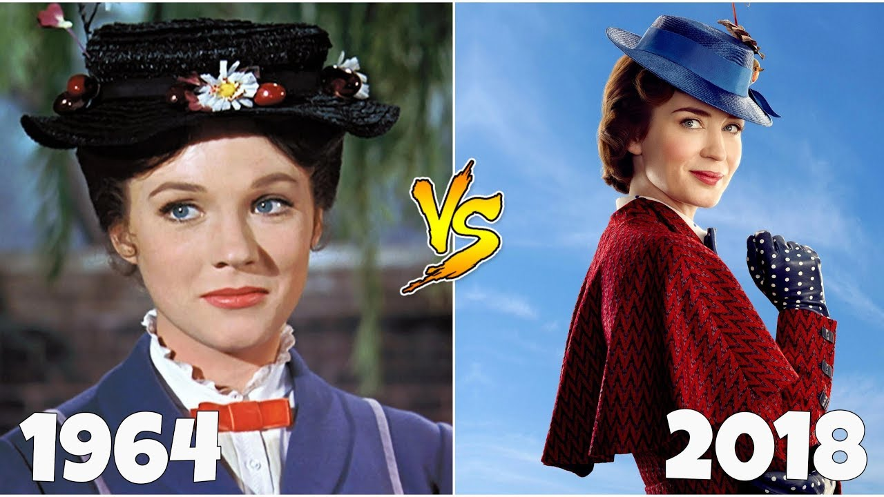 Mary Poppins Returns 1964 Vs 2018 Then And Now Youtube