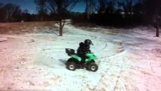 Atv in the snow baja 50cc