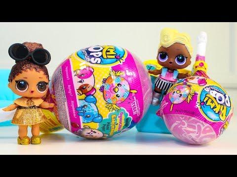 Куклы ЛОЛ ПИКМИ ПОПС мягкие Игрушки Сюрпризы Видео для детей LOL Dolls #Pikmipops Surprise