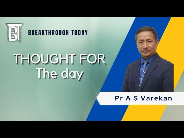 Don't yield to Temptation - A S Varekan  - Thought for the day