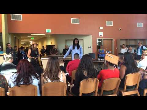 Richard Sherman answers questions from Lummi High School graduates