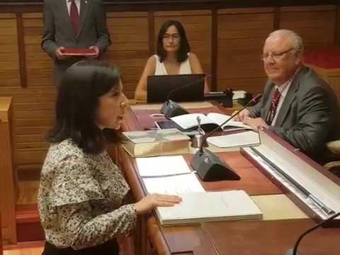Alba González Sanz. Promesa del cargo de concejala. Sesión constitución corporación 2019-2023
