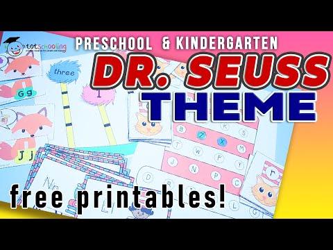 Dr. Seuss Theme Activities & Free Printables