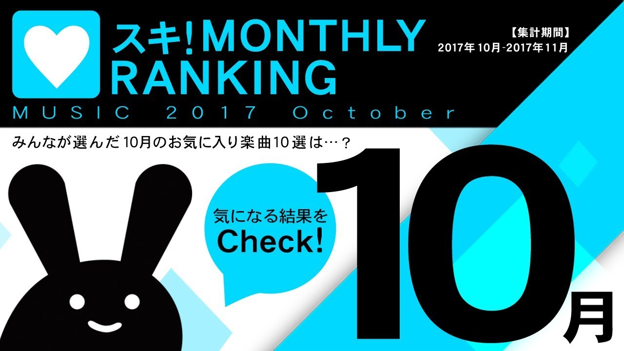 bemani fan site music 2017 october スキ monthly ranking youtube