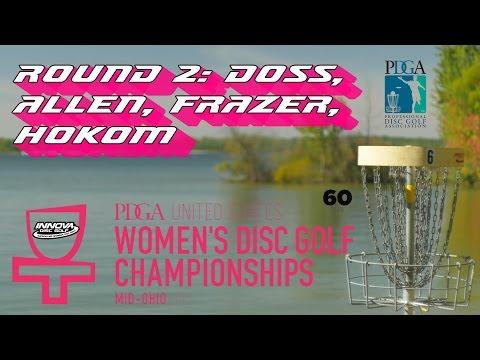 2015 USWDGC: Round 2 Lead Card (Doss, Allen, Frazer, Hokom) (60fps)