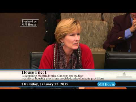 House Greater Minnesota Economic and Workforce Development Policy Committee  1/22/15