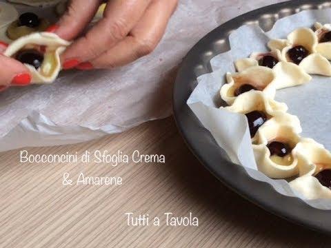 Bocconcini di sfoglia crema amarene ricetta semplice e veloce tutti a tavola youtube - Tutti in tavola ricette ...