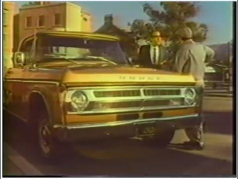 1970 Dodge Custom Sweptline Truck TV Commercial Featuring Al Molinaro