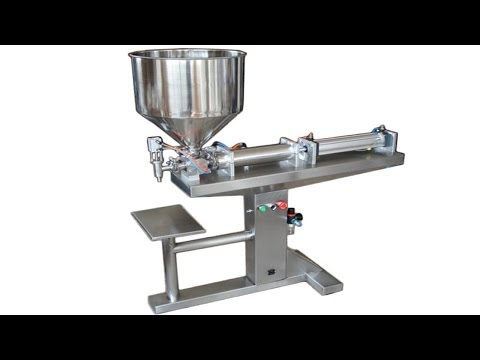 Horizontal Sauce Cream Paste Filling Machine Full Pneumatic 臥式醬料氣動灌裝機