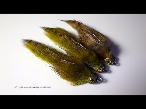 trout and bass fly Sculpzilla articulated Sculpin streamer fly