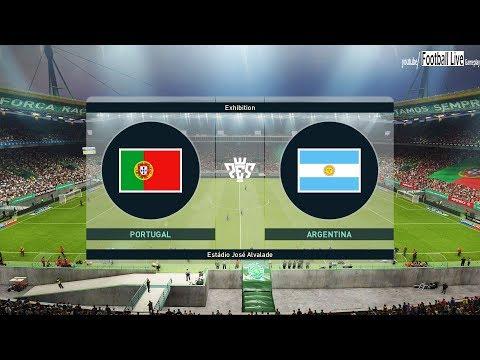PES 2019 | Portugal VS Argentina | C.Ronaldo vs L.Messi | Gameplay PC