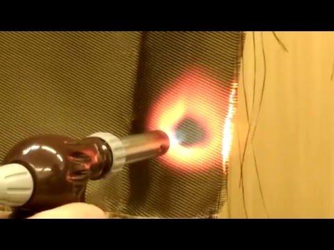 Проверка огнестойкости базальтовой ткани