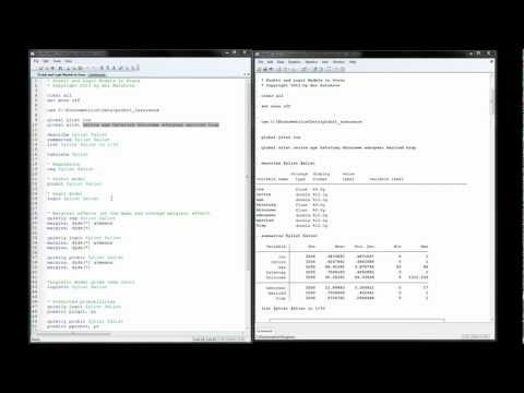 Probit and Logit Models in Stata