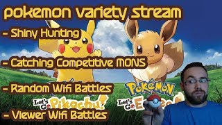 Pokemon Let's Go Pikachu/Eevee Variety Stream