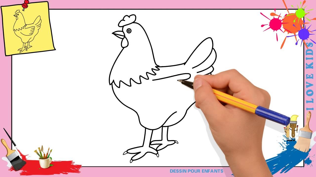 Dessin Poule comment dessiner une poule facilement etape par etape pour enfants 4