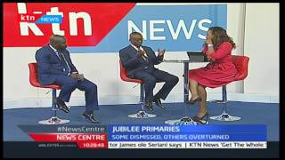Jaoko Oburu-Chair NASA Young Turks and Jessy Oduor-Advocate speaking about the party primaries pt 1