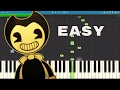 How To Play Bendy And The Ink Machine Song EASY Piano Tutorial Build Our Machine DA Games mp3