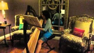 Take a Bow - Rihanna - Harp Cover