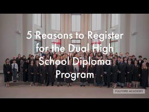 Fulford Academy Dual High School Diploma: Hybrid or In Class - It's all about flexibility.