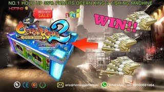 Win 999999USD dollars 100% IGS Original Ocean king 2 golden legen fishing game machine.