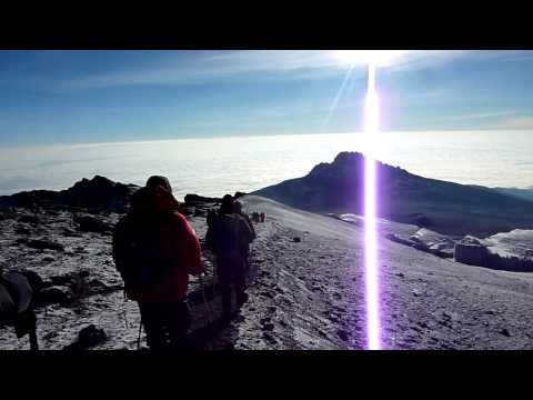 Descending Kilimanjaro to Mweka Hut