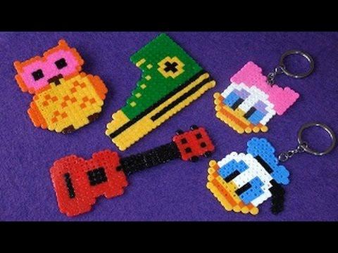 Hama boncuklarla anahtarlık, broş ve magnet yapımı - DIY Perler Beads