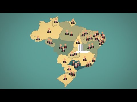 Como é calculado o número de deputados e senadores no Brasil