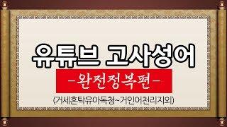 김영수의 유튜브 고사성어 (완전정복편) 거세혼탁유아독청~거인어천리지외