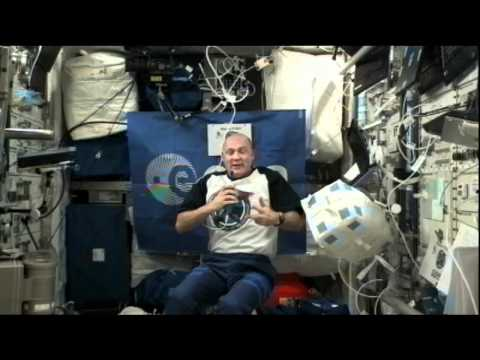 European Station Astronaut Discusses Fitness in Space With European Students