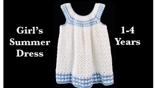 Bean stitch crochet dress | frock | how to for girls 1-4 years by Crochet for Baby #144