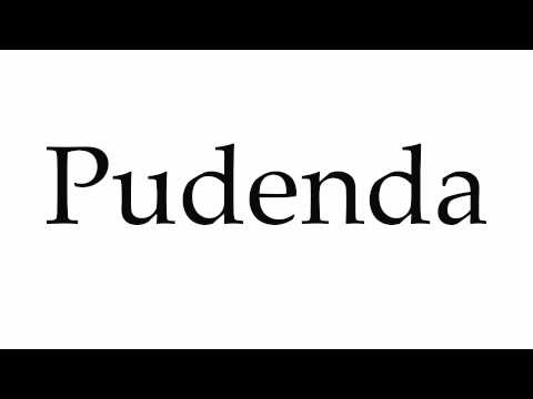 How To Pronounce Pudenda