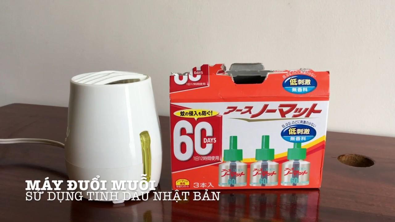 Trên tay máy đuổi muỗi - Sử dụng tinh dầu Nhật Bản: Không mùi - vị, dùng được cho trẻ em