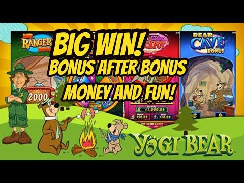 BIG WIN! BONUS AFTER BONUS! NEW GAME YOGI BEAR - 동영상