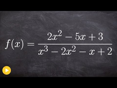 Find asymptotes and intercepts of a rational function