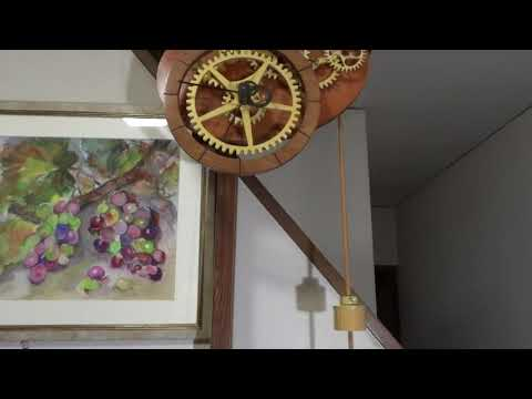 Wooden Gear Clock OVAL