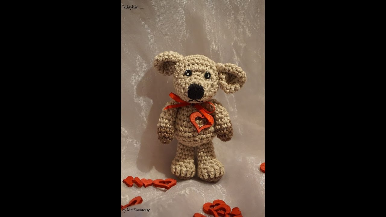 Teddy Bär Diy Häkeln Muttertag So Süß Amigurumi Youtube