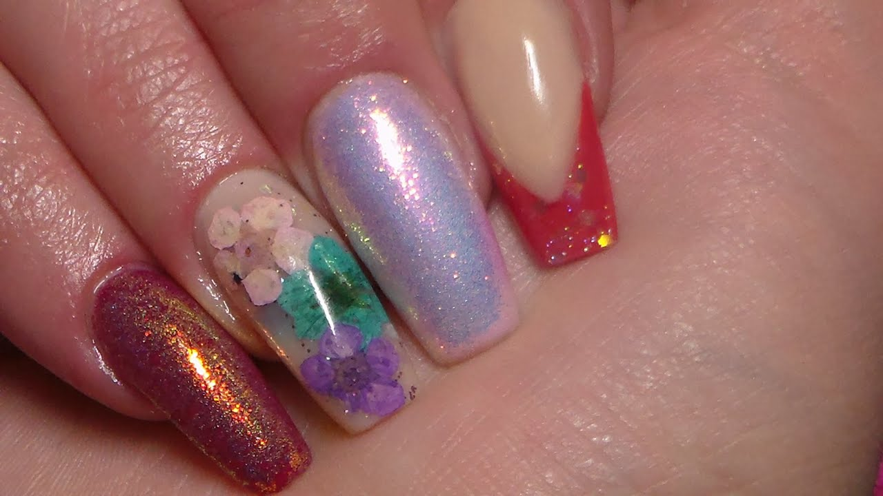 Acrylic Nails | Mermaid glitter | New Design - YouTube