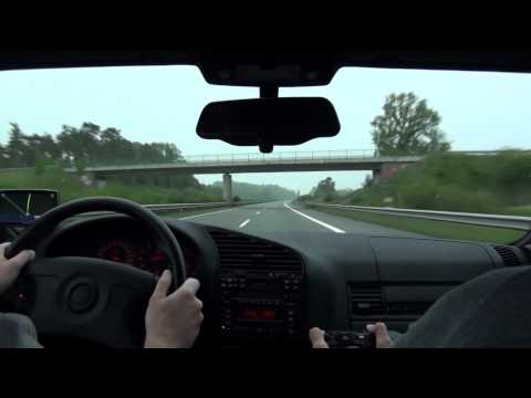 BMW M3 e36 3.2 cruising at high speed on the Autobahn