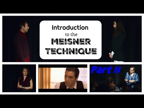 What is the Meisner Technique ? Free Class with Anthony Montes, Part II : repetitions and examples
