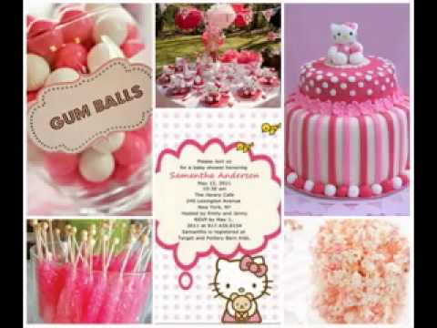 DIY cheap baby shower decorating ideas for girls - YouTube