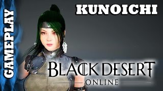 Black Desert Online - Kunoichi - Level 1-50 First day or Two Gameplay