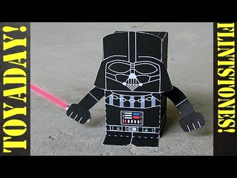 Darth Vader Starwars - Fun Paper Toy DIY! Travel Video