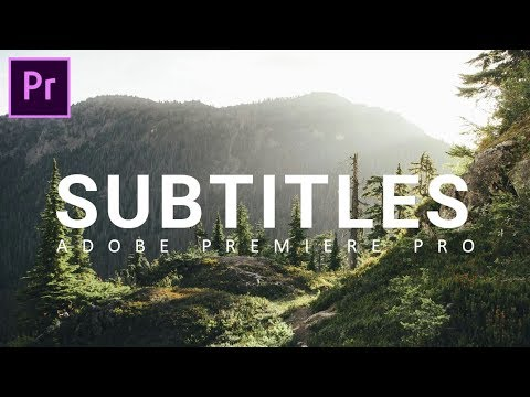 Easy way to add SUBTITLES in Adobe Premiere Pro