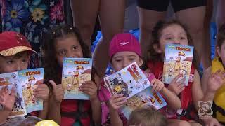 Crianças do Projeto Crescer Seguro aprendem prevenção ao afogamento desde cedo